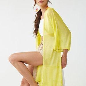 Forever 21 citron cardigan kimono